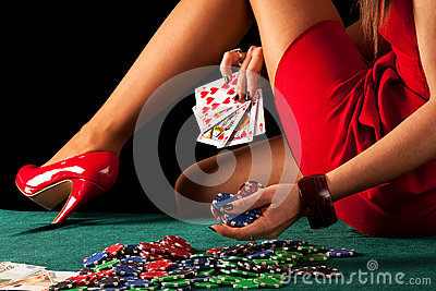 gambling woman