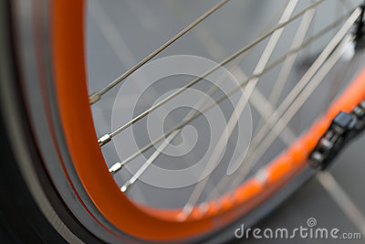 Bicycle tire and spoke wheel
