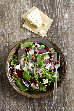 Salad with beet,