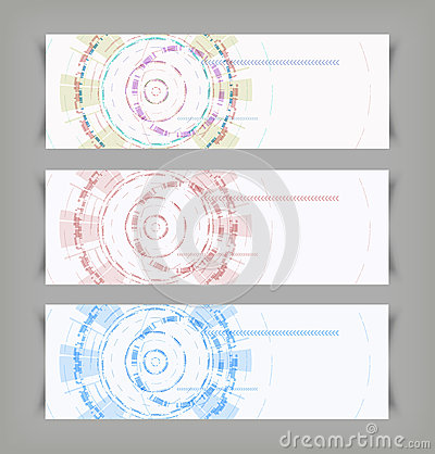 Vector techno abstract color backgrounds