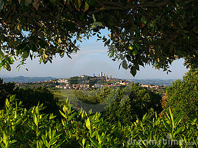 San Gimignano from oposing hill