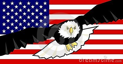 Eagle and Flag