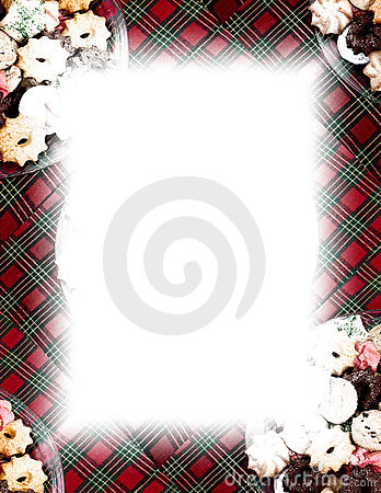 Cookies & Plaid Border on White