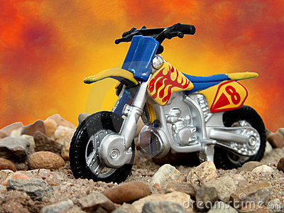 Toy Blue and Yellow Dirt Bike