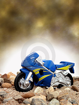 Toy Blue Motorcycle