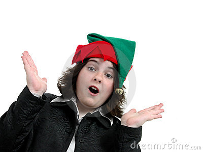 Holiday Teen Girl Surprised