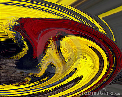 Red and Yellow Swirl