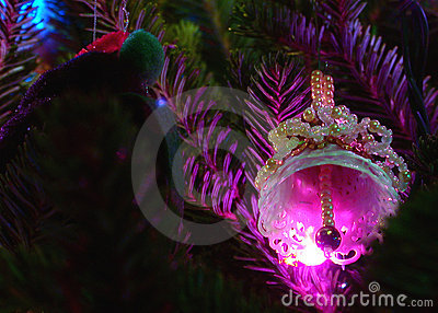 Holiday Ornament and Lights Bell
