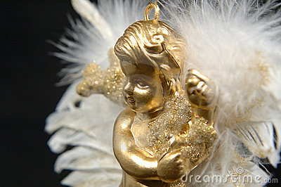 Christmas ornament - Golden angel, Part IV