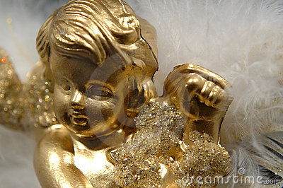 Christmas ornament - Golden Angel, Part V