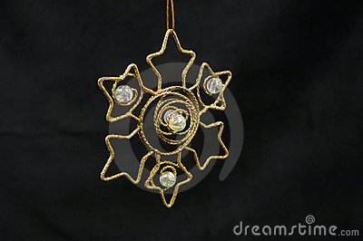 Christmas ornament - Golden star
