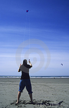 Teen Flying Kite