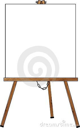 Blank poster on an easel