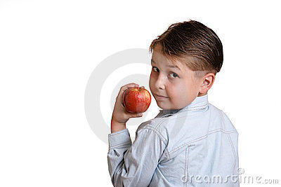 Child holding fruit