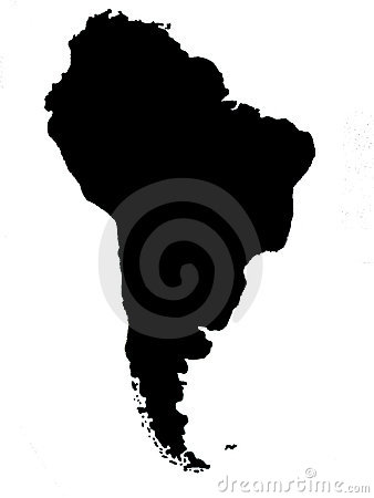 South America blind map