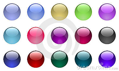 Large Glass Buttons