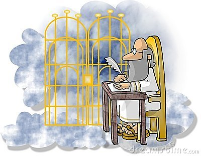 St Peter at the Pearly Gates