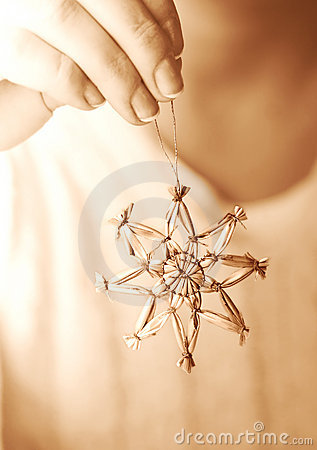Hand Hanging Star Ornament