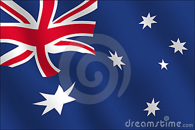 Australian Flag - Waving effect