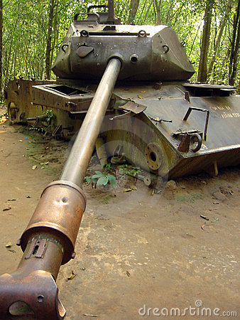 Jungle war destroyed american tank vietnam