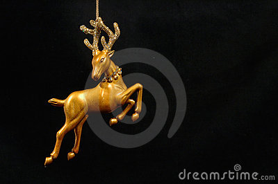 Christmas ornament - Golden Reindeer