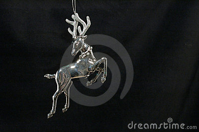Christmas ornament - Silver Reindeer