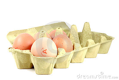 5 eggs in carton egg pack