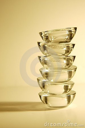 Stack of Candleholders (gold)