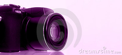 Digital Camera with Grape Background