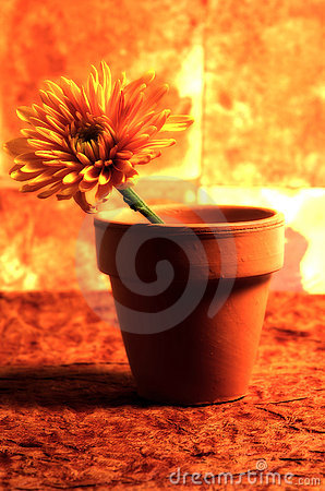 Abstract Potted Flower 2