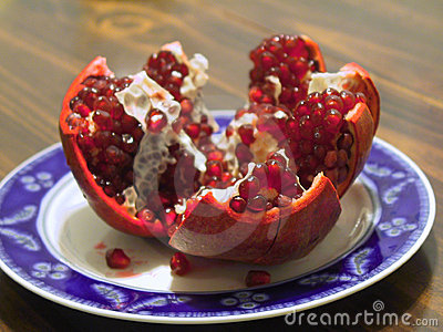 Pomegranate Split Open