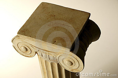 Old ionic column