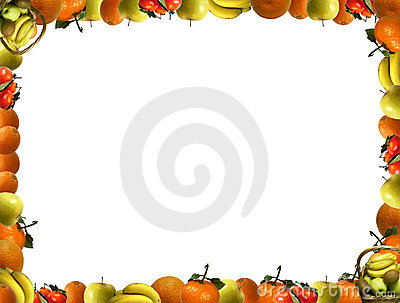 Frame that consists of fruit