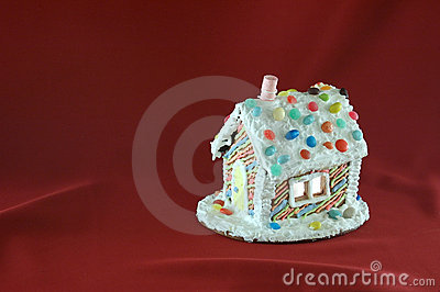 Decorated Christmas gingerbread house