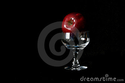 Apple and Wine Glass