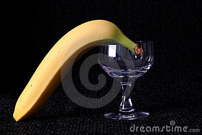 Banana and Glass