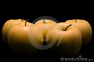 Apples, painted with light