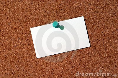 Business Card on Corkboard