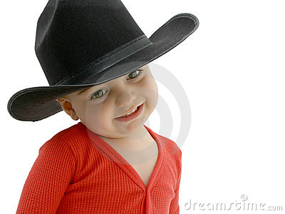 Cowboy Baby with Black Hat