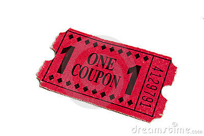 Red Carnival Admission Movie Ticket