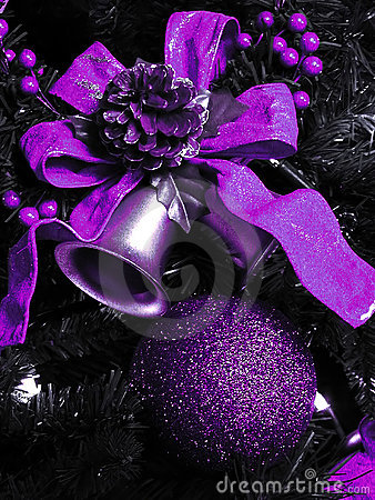 Purple Christmas decorations