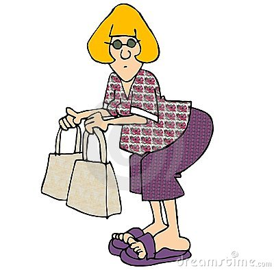 Woman with two bags