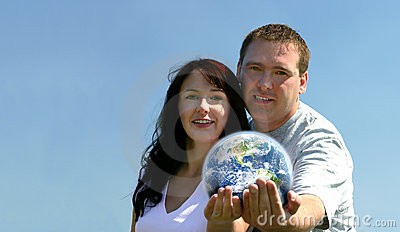 Couple Holding Earth
