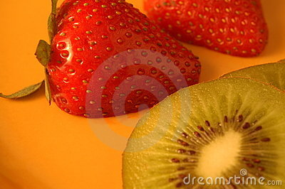 Strawberries and Kiwi