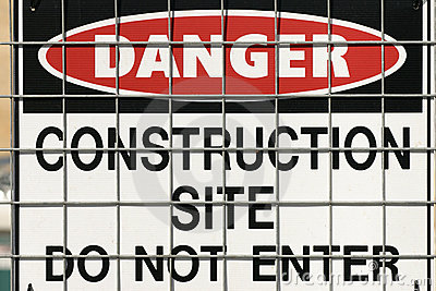 Construction warning sign