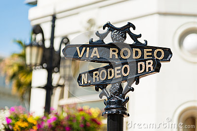 Rodeo Drive street signs