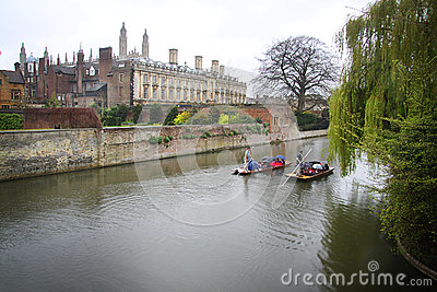 Punts in the River Cam - Cambridge, England
