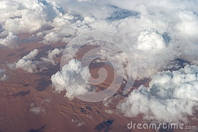 Above the Clouds over an African Desert