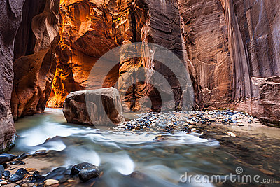 Wall street in the Narrows, Zion National Park, Utah