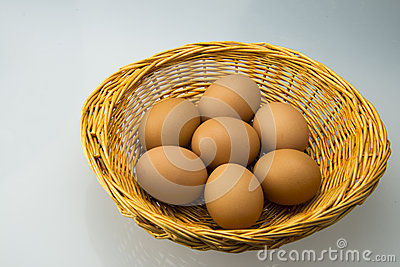 The small basket and egg